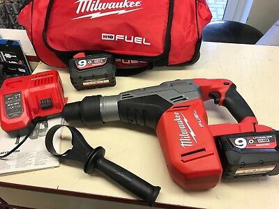 MILWAUKEE M18CHM-9.0 18V 9.0Ah LI ION FUEL BRUSHLESS SDS MAX HAMMER DRILL TOOL