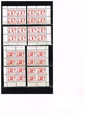 CANADA  24  Postage Due  Inscription Blocks    Mint Not Hinged !