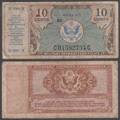 1948 series 472 Military Payment Certificate 10 Cents