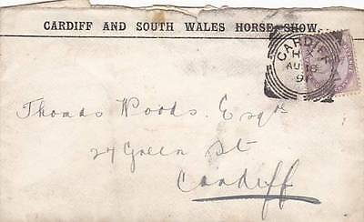 Gb 1891 Cardiff South Wales Horse Show Advert Cover Cardiff Squared Circle 31*1