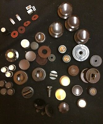 Collection of Old Vintage Radio etc Control Knobs As Pictured