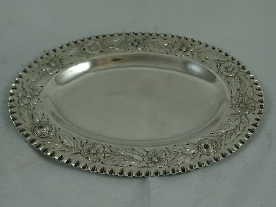 QUALITY, VICTORIAN silver TRINKET TRAY, 1878, 99gm