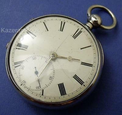 Antique Victorian Solid Silver Fusee Fob Pocket Watch By Wm Broad London 1876
