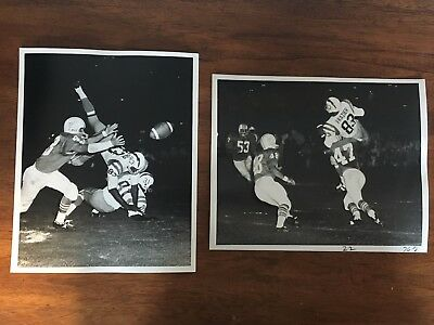 AFL Type 1 Photos - 2 photos of Miami Dolphins first-ever game 1966 vs Chargers