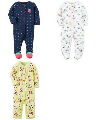 Brand New Carter's Baby Girls' Cotton Snap Up Sizes Newborn, 3 M, 6 M, and 9 M
