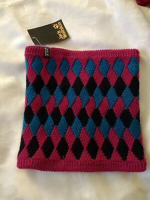 "JACK WOLFSKIN BNWT girls"" diamond loop knit scarf"