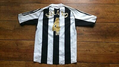 Newcastle United FC - Mens Home Shirt - Toon Army No.4 Nobby Solano - Size Small