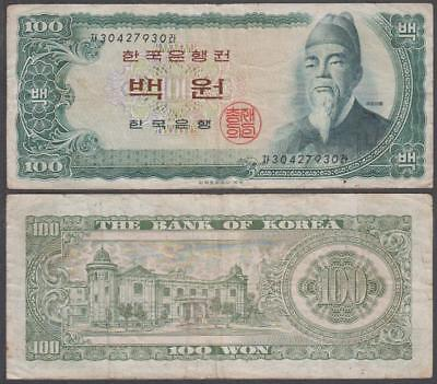 1965 Bank of Korea (South) 100 Won