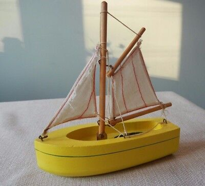 6 Inch Yellow Birkenhead Star Productions Yacht Pond Boat Ship Made in England