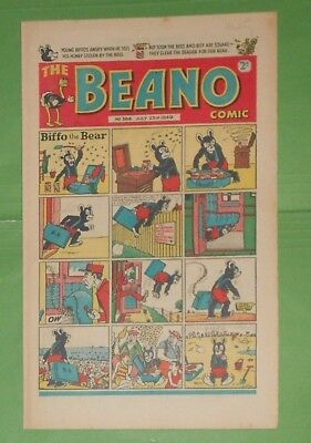 The Beano Comic # 366 , Biffo The Bear, 1949.  Vg Condition .