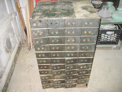 44 Antique Safety Deposit Box Bank Safe  Vaults W/keys & Trays Nr