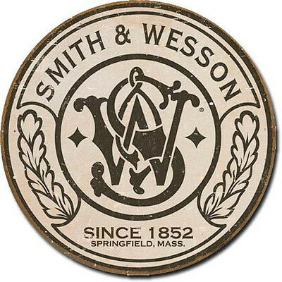Smith Wesson Sign Gun Hunting SW Rustic Vintage Metal Advertising Tin New USA