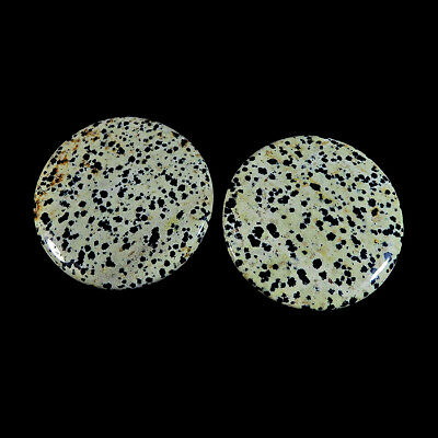 Natural Dalmantion 2Pcs. Lot 294Cts. Front To Back Drill Gemstone