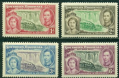 Southern Rhodesia Scott #38-41 MNH Coronation of George VI Trains CV$3+