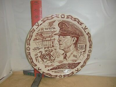 Vernon Kilns Douglas Macarthur Plate-From Wwii When He Was In Charge Of Far East