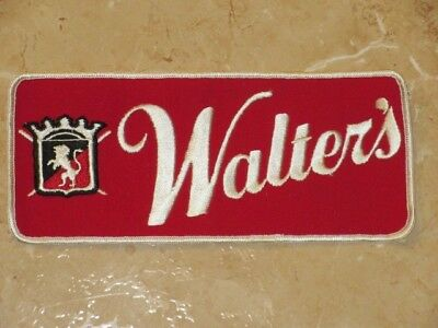 Vintage Walters Beer Large Driver Patch Unused Eau Claire Wisconsin #3