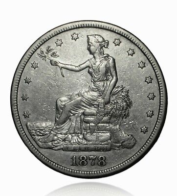 1878 S Trade Silver Dollar, Cleaned, Higher Grade Coin, Very Collectible
