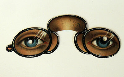 Pear's Soap EYEGLASSES Spectacles Pince Nez Antique Victorian Die Cut TRADE CARD