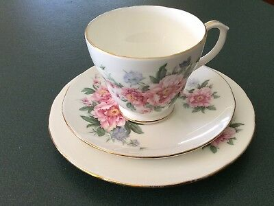 Duchess Floral Trio teacup and saucer and plate China collectable england