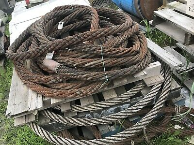 Heavy Duty Steel Sling Wire Rope Cable 30 Tonne Rated