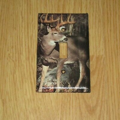 Monster Rack Trophy Buck Whitetail Deer Wild Game Light Switch Cover Plate #8