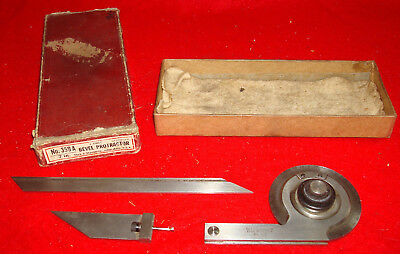 "Vintage L.S. Starrett Company No.359A Universal Bevel Protractor With 7"" Blade"