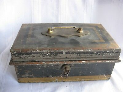 Vintage Cash Money Strong Box with Key & Secret Storage-Hand Made