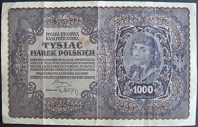 1919 Poland 1000 Marek Note