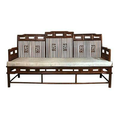 Rosewood Chinoiserie Bench Settee Vintage Modern