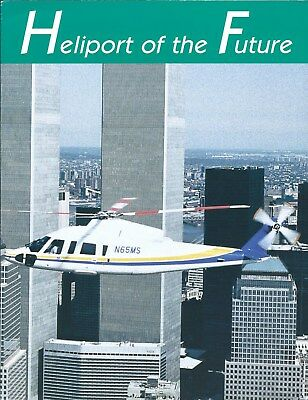 Brochure New York NJ Port Authority Heliport of the Future Twin Towers (B560)