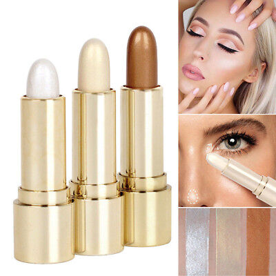 Highlight & Contour Stick Makeup Shimmer Concealer Beauty Face Powder Cream HOT