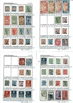 #763 Italy Italia M/U collection hinged to leaves x6 + 3x cards