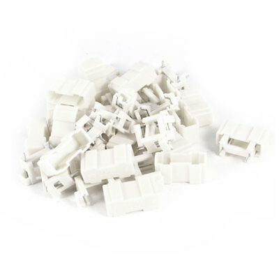 20 x Off White Plastic 2Pins PCB Mounted Fuse Holder 220V for 5x20mm Fuse