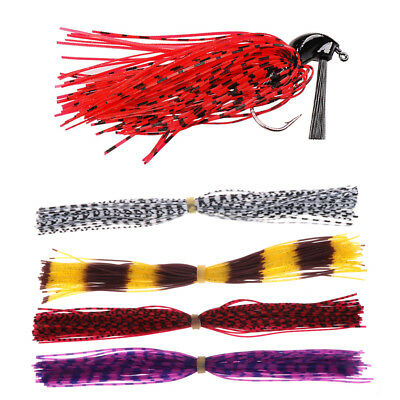 50/500 Strands Fishing Skirts Fish Jig Bass Lure Bait Spinner Silicone DIY Tools