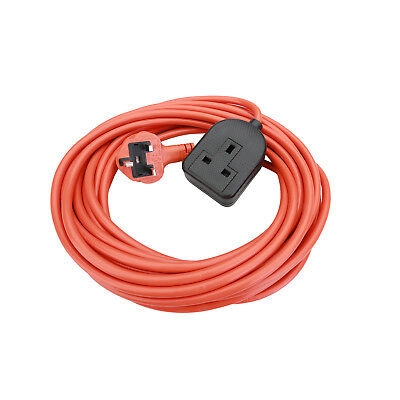 Heavy Duty Long 10M Extension Lead Mains Cable Plug Socket 1 Gang Way 3 Core