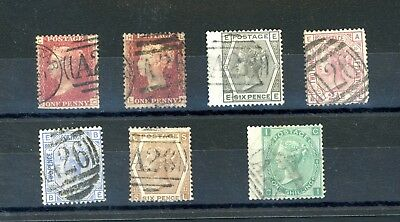 GB  used Abroad  A26 Gibraltar  7 Stamps   (D969)