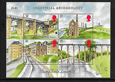 GB --1989 - Industrial Archaeology- Min sheet in MNH