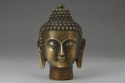 Chinese Collectable Brass Buddha Lucky Statue Old Decoration