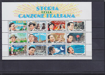 057269 Musik Music San Marino Block 21 ** MNH Year 1996