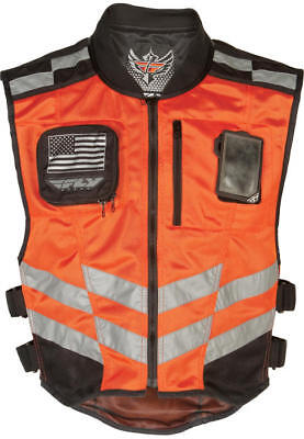 Fly Racing Fast Pass Vest Fluorescent Orange Small/Medium/Large
