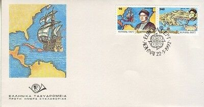 Greece - 500th Anniversary of Discovery of America by Columbus (FDC) 1992