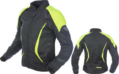 Fly Racing Womens Butane Jacket Black/Yellow 2X-Large