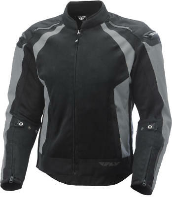 Fly Racing CoolPro Jacket Silver/Black X-Large