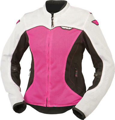 Fly Racing Womens Flux Air Jacket White/Pink 2X-Large