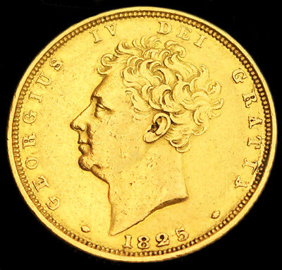 KING GEORGE THE IV 1825 GOLD SOVEREIGN & Case..