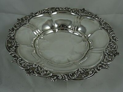 GEORGE IV solid silve FRUIT BOWL, 1824, 606gm