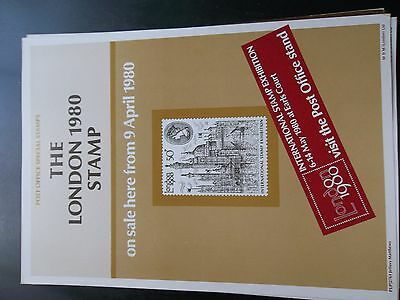 Royal Mail A4 Post Office Poster 1980 London Views Gb 50P Stamp