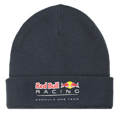 Red Bull Racing Mens Classic Beanie Hat - Blue - One Size