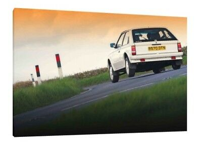 Vauxhall Astra GTE 16V - 30x20 Inch Canvas Wall Art Framed Picture Print