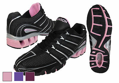 Womens Shock Absorbing Running Trainers Ladies Jogging Gym Fitness Trainer Shoe